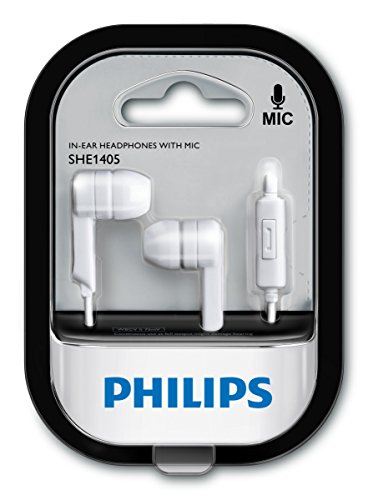 Philips SHE1405WT/94 in-Ear Headphones with Mic (White) Image 3