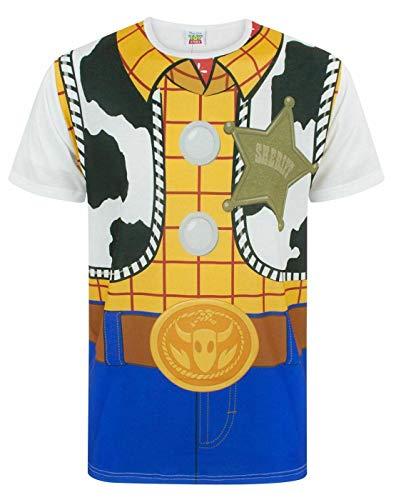 Disney Toy Story Woody Cowboy Kostüm Outfit Herren Erwachsene Neuheit T-Shirt XXXL