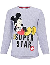 8cc975c1c374 T-Shirt Manches Longues Enfant garçon Disney Mickey Gris de 3 à 8ans