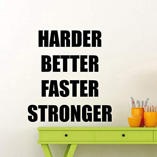 er Besser Fitness Motivierend Zitat Vinyl Aufkleber Home Crossfit Sport Poster Workout Inspirierend 57x62cm ()