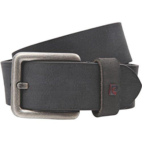 Pierre Cardin Mens leather belt / Mens belt, full grain leather belt, black