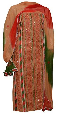 eco haat Women's Cotton Dress Material (MUPWDM02_Free Size_Mustard)