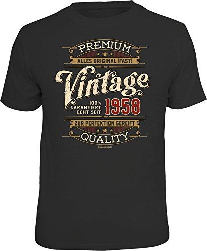 Original RAHMENLOS Geschenk T-Shirt zum 60. Geburtstag: Vintage 1958 XXL
