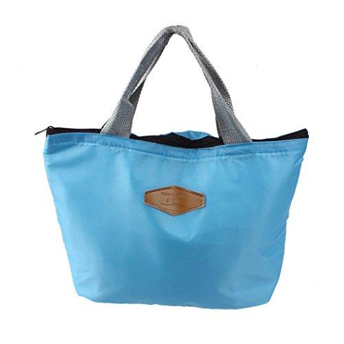 Pranzo al sacco, Reasoncool Portatile impermeabile Picnic isolato Food Storage Box Tote Lunch Bag (Blu)