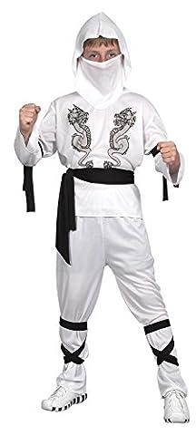 Rire Et Confetti - Ficnin015 - Déguisement Pour Enfant - Costume Petit Ninja Dragon Blanc - Garçon - Taille L