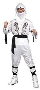 Reír Y Confeti - Ficnin015 - Disfraces para Niños - Traje de Little White Dragon Ninja - Boy - Talla L