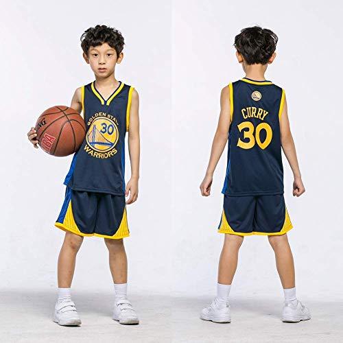 NBA Nr.23 Bulls Jordan Lakers James Nr.30 Warriors Curry Nr.11Warriors Thompson Nr.35 Warriors Durant Kinder Basketballanzug Basketball Trikots Jersey Set für Kid Jungen Mädchen (F, XS(100-120cm))
