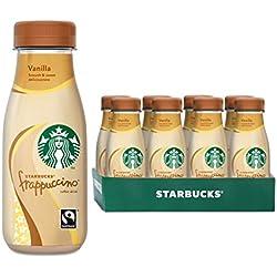 Starbucks Frappuccino Vanilla, Erfrischendes Milchmischgetränk mit Vanillegeschmack für unterwegs, 8er Pack (8 x 250 ml)