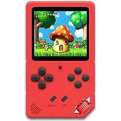 ZHISHAN Console de Jeux Portable pour Enfants Adultes Jeu Vidéo Rétro Classique 220 Intégré Rechargeable Écran de 3,0 Pouces Plug & Play et Consoles Système d'arcade (Rouge)