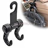 Hooks & Rails - Universal Auto Car Seat Headrest Hanger Hook Holder Cloth Grocery Storage Fastener Clip Hooks Rails - Hook Strap Holder Loop Laptop Hooks Rails Seat Sport Hanger Rack Hoo