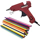 Penggong 20W 20 WATT 7MM hot melt Glue Gun with ON Off Switch and LED Indicator (10 Color Glue Sticks)