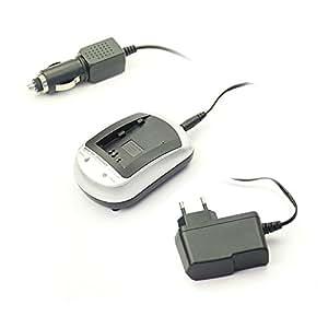 subtel® Chargeur MH-61 pour Nikon EN-EL5 (Coolpix P6000, 3700, 4200, 5200, 5900, 7900, P3, P4, P530, P5000, P5100) - incl. Alimentation + câble chargeur voiture - chargeur batterie appareil photo, adaptateur secteur, station de charge accu, chargeur auto