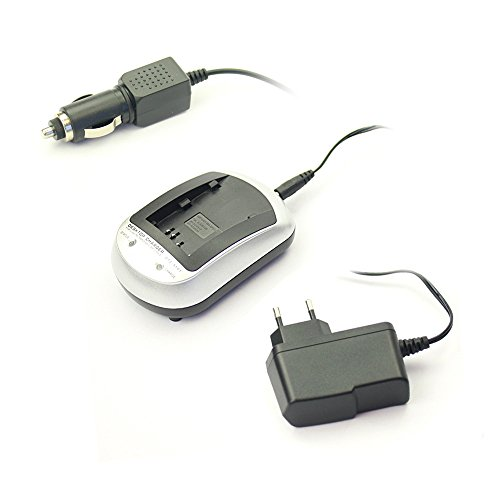 subtel® Qualitäts Ladegerät VAR-L80 für (Sanyo DB-L80 / DB-L80A (Sanyo Xacti VPC-CG10 / Xacti VPC-X1200 / Xacti VPC-CS1) - inkl. Netzladegerät + KFZ Ladekabel - Ladestation für Kamera Akku, Netzteil Charger Akkuladegerät Aufladegerät, Auto Ladekabel
