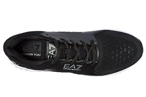 Emporio Armani EA7 Herrenschuhe Herren Schuhe Sneakers Spirit Basic Schwarz
