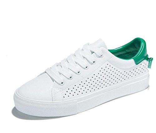 Verde Escola Shfang Retro De Estudante Lazer Conveniente Sapatos Liso Senhora Movimento Verde Bottom Branco Compras tSZ7w