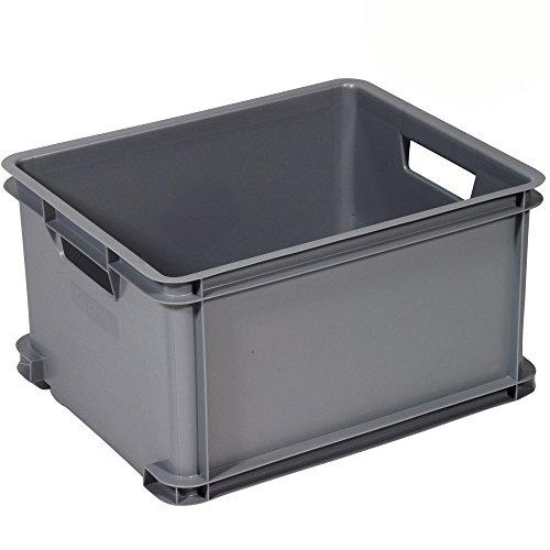 Curver Stapelkiste aus Kunststoff, sehr robust, 35 x 43 x 24,5 cm, 30 Liter, grau: Stapel Kiste, Stapelbar, Lagerkiste, Aufbewahrungsbox Transportbox Kunststoff Box Sehr robuste, Vielseitig verwendbar