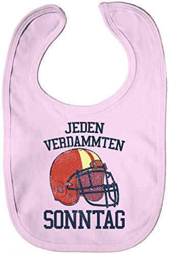 ShirtStreet American Football Gruppen Fan Lätzchen Baumwolle Baby Bib Jungen Mädchen Jeden verdammten Sonntag 2, Größe: onesize,Powder Pink -
