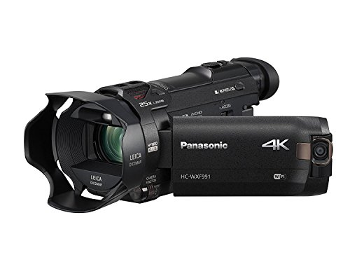 4K + EVF : Panasonic HC-WXF991K 4K Ultra HD Camcorder with Wi-Fi, Built with Multi Scene Twin Camera (Black)