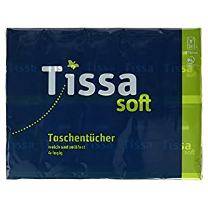 Tissa Soft Taschentücher weich und reißfest 4-lagig, (30 x 10 Tücher)