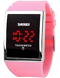 Hombres de relojes/[impermeable], pantalla táctil, personalidad, [Creative], [], Hombres y Mujeres Estudiantes Reloj/elegante LED impermeable watch-c