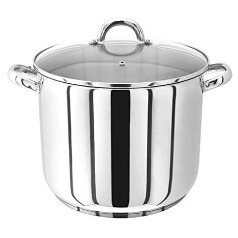 Judge Stockpot with Glass Lid, Silver, 28 cm, 13 Litre
