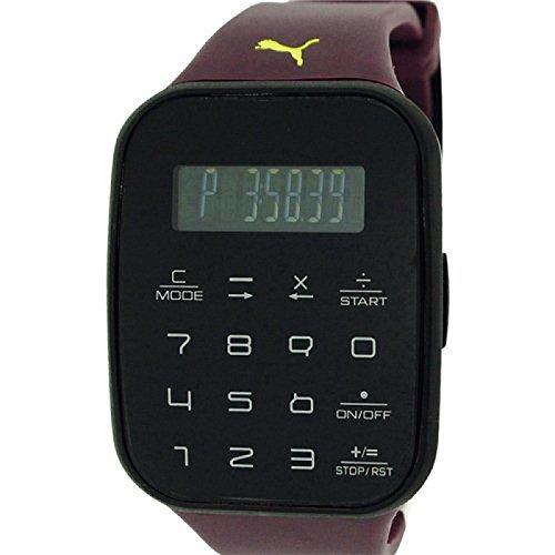 Puma Unisex Calculus Digital Chronograph Purple Plastic Strap Watch PU910531004