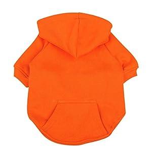 Idepet Chien Chat Sweat à capuche Coton pour animal domestique manteaux Couleur unie Vêtements pour chiens de petite taille Puppy Teddy caniche Chihuahua