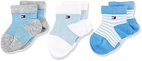 Tommy Hilfiger Baby - Jungen Socken Th Baby Newborn Giftbox 3p, Blau (Baby Blue 397), Neugeboren (Herstellergröße: 11/14)