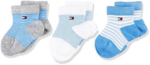 Tommy Hilfiger Baby - Jungen Socken Th Baby Newborn Giftbox 3p, Blau (Baby Blue 397), Neugeboren (Herstellergröße: 11/14) (Neugeborene Baby-socken)