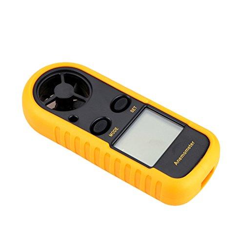 Skitior Anemómetro Digital Anemógrafo Digital LCD Medidor de Velocidad Temperatura...