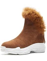 YAN Zapatos de Moda para Mujer Zapatos de Plataforma Zapatos de tacón Alto y Top Botas
