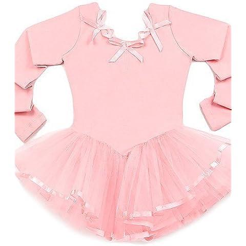 CBIN&HUA Lycra de manga larga de tul de Baile para niños Salón de baile del ballet Faldas / Tutus , blushing pink , m