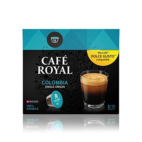 Café Royal Single Origin Colombia 48 Nescafé Dolce Gusto kompatible Kapseln (Intensität 3/10) 3er Pack (3 x 16 Kaffeekapseln)