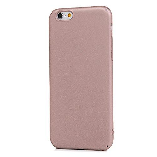 MAXFE.CO PC Handyhülle Etui Rück für iPhone 6 6S Matte Hülle PC Tasche Back Cover Schutzhülle Harte Kunststoff Case mit Einfarbig Design Rose Gold Rose Gold