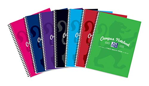 Oxford Campus Wirebound Notebook, A4 Size - Assorted Colour, Pack of 5