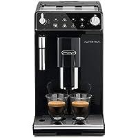 De'longhi Autentica - Cafetera Superautomática para Espresso y Cappuccino, 2 Tazas, Depósito de Agua de 1.3 L, Molinillo de Café Silencioso, Sistema de Auto-apagado, 1450 W, ETAM 29.510.B, Negro