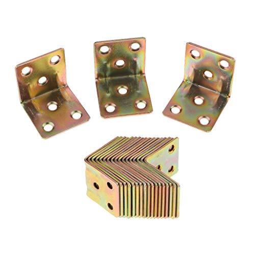 Fenteer 20tlg. Stuhlwinkel Winkelverbinder Metallwinkel Möbelwinkel für Möbel Stuhl - 30 x 30 x 29 mm