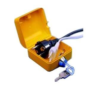 stecker safe gro f r bis zu 3 schuko stecker schutz vor unbefugter ger tebenutzung. Black Bedroom Furniture Sets. Home Design Ideas