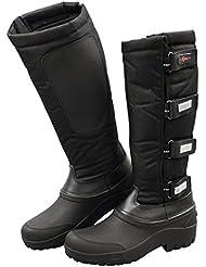 Botas de montar térmicas, con caña extraíble, negro, 43