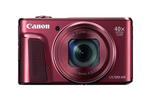 "Canon PowerShot SX720 HS Fotocamera Compatta, 20.3 MP, 1/2.3"", CMOS, 5184 x 3888 Pixel, Rosso"