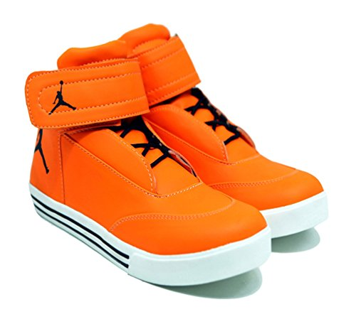 orange jordan shoes