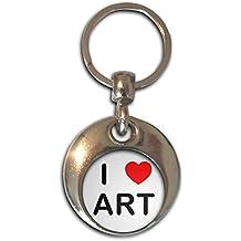 I love Art - Cromo Ronda de doble cara llavero