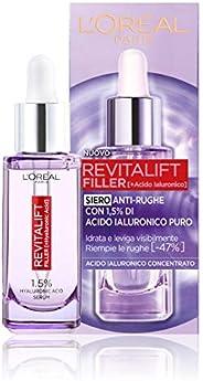 L'Oréal Paris Siero Viso Revitalift Filler, Azione Rimpolpante e Anti-Rughe, Altamente Concentrato con Aci