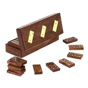 shalinindia zone de domino en bois avec dominos 20 32 centim tres cuisine maison. Black Bedroom Furniture Sets. Home Design Ideas