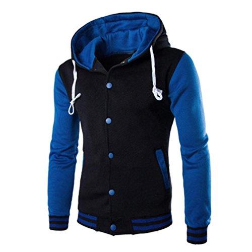 Kobay Herren Männer Mantel Jacke Outwear Pullover Winter Schlank Hoodie Warme Kapuzenpulli Mehrere Farben (Bomber Gemütliche)