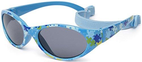 Kiddus Sonnenbrille Kids Comfort Junge und Mädchen. Alter 2 bis 6 Jahre. Total Flexible Modell für Extra Komfort. Mit Band und sehr Resistent. 100% UV-Schutz. Nützliches Geschenk (KI30411)
