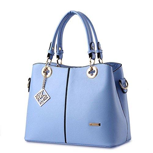 Koson-Man da donna, in pelle sintetica, stile Vintage, Tote Bags-Borsa e maniglia superiore, blu (Blu) - KMUKHB129