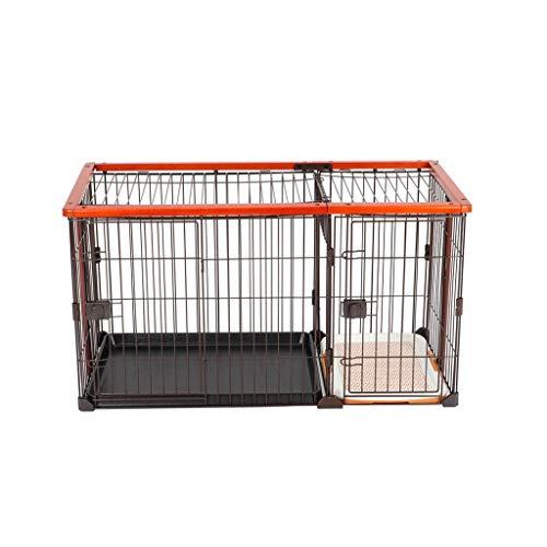 Inicio Descuento jaula para mascotas con bandeja, Plegable Perro Cachorro Animal Caja Veterinaria Entrenamiento de coches Portador Metal Madera flexible para mascotas Cerca de animales Patio portátil