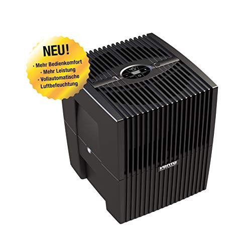 Venta Luftwäscher LW15 COMFORTPlus Luftbefeuchter und Luftreiniger für Räume bis 35 qm, brillant schwarz, mit digitaler Steuerung