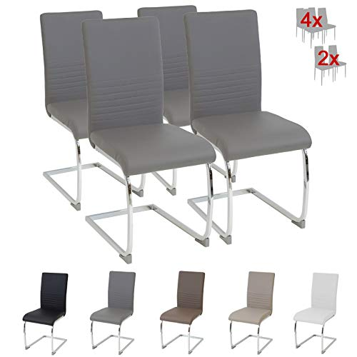 Albatros Esszimmerstühle, Grau, 4er-Set